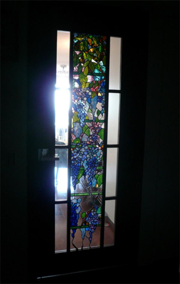 高層マンション、室内ドア ステンドグラス パネル オーダーメイド 新築 リフォームのサムネイル