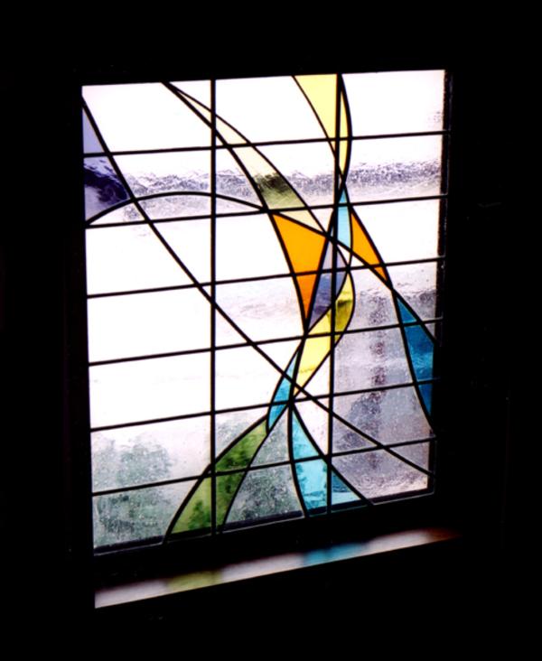 光の流れ ステンドグラス オーダーメイド 新築 リフォームのサムネイル