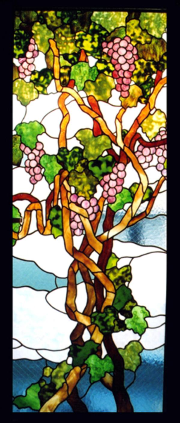 2Fドア葡萄のステンドグラス