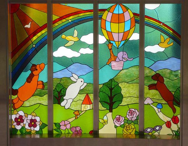 市川市幼稚園 ステンドグラス 春 オーダーメイド 新築のサムネイル