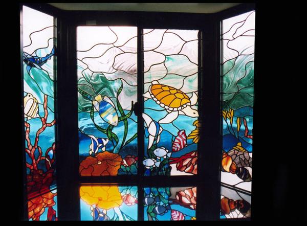 ステンドグラス オーダーメイド 浴場へ設置のサムネイル