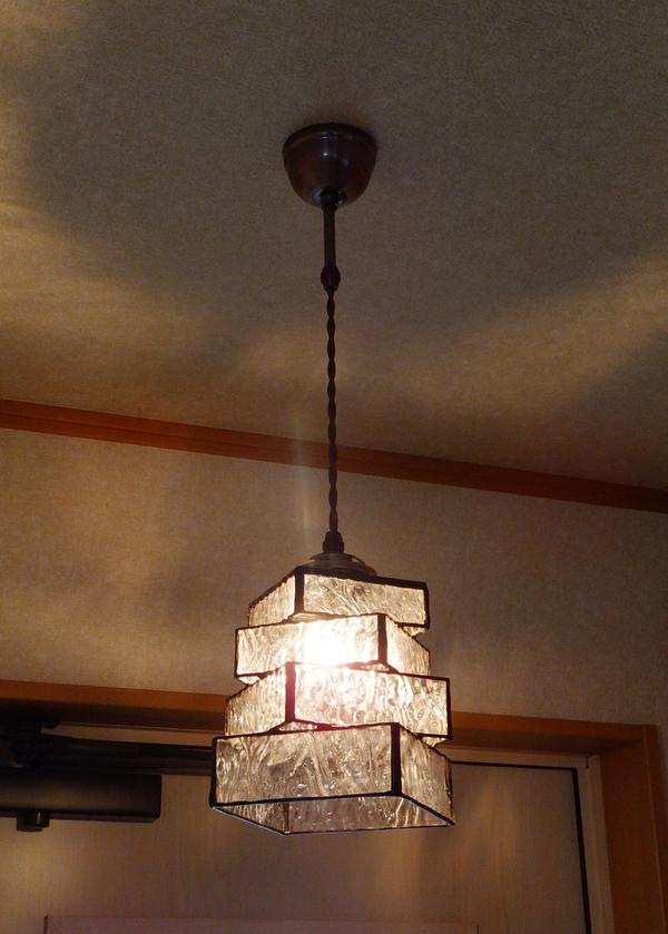 【照明】ステンドグラス、ペンダントライト、4段重ねのサムネイル