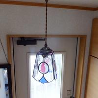 照明】ステンドグラス、ペンダントライト,ニャンコのサムネイル