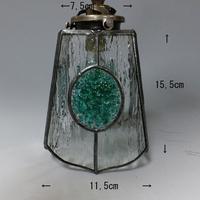 【照明】ステンドグラス、ペンダントライト,グリーンのサムネイル