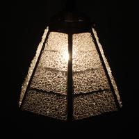【照明】ステンドグラス、ペンダントライト,6面体クリアーのサムネイル