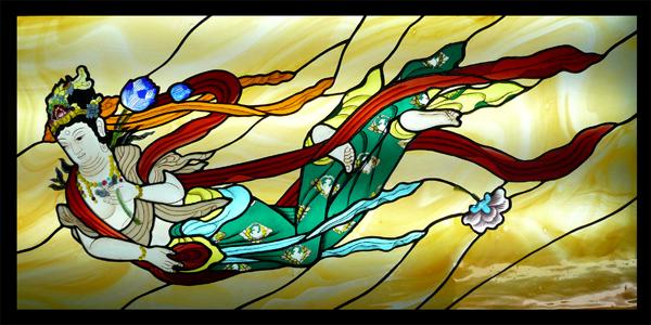 ステンドグラス パネル オーダーメイド 飛天のサムネイル