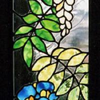ステンドグラス オーダーメイドキッチン、鷺のパネルのサムネイル