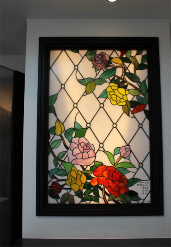 ステンドグラス パネル オーダーメイド 新築 リフォーム バラのサムネイル