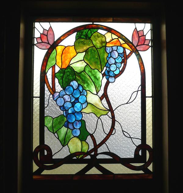 ステンドグラス オーダーメイド 新築 葡萄