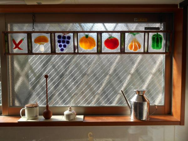 ステンドグラス オーダーメイド 野菜と果物のサムネイル
