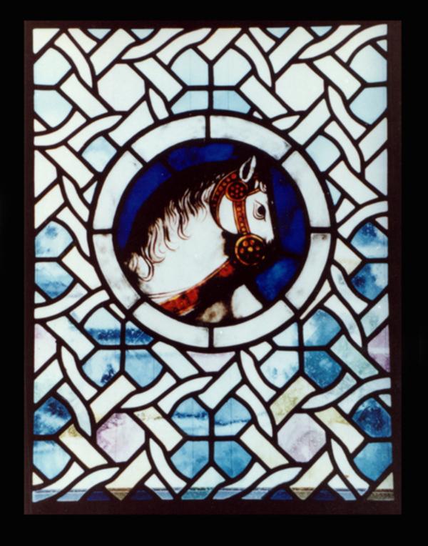 馬の絵付け ステンドグラス 習作のサムネイル