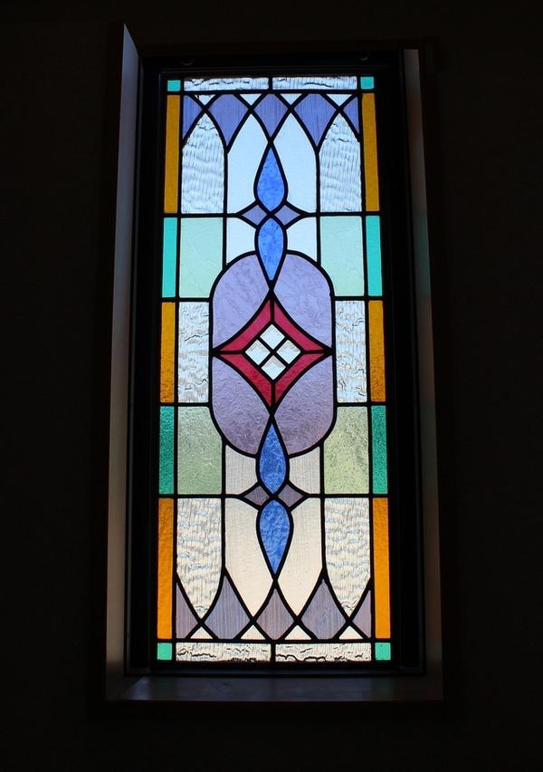 ステンドグラス パネル オーダーメイド 新築 リフォーム 幾何学模様のサムネイル