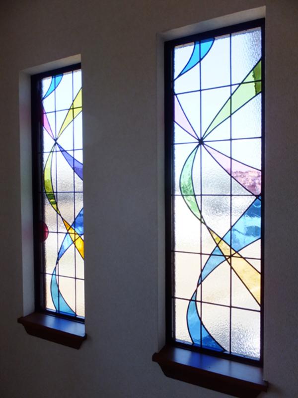 ステンドグラス パネル 新築 オーダーメイド 注文 流線型 のサムネイル