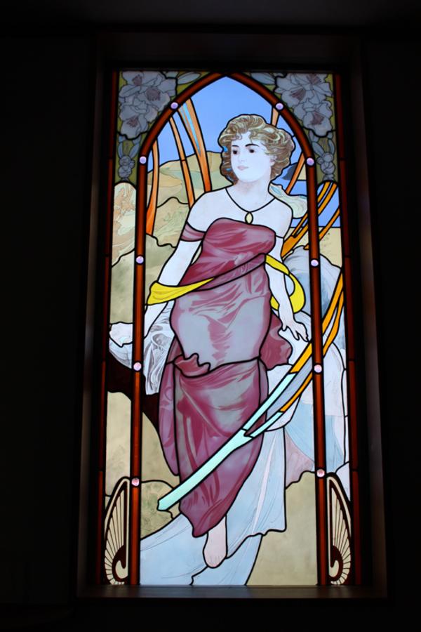 ステンドグラス オーダーメイド ミュッシャの模写
