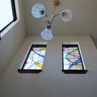 流線型 ステンドグラス パネル 新築 オーダーメイド のサムネイル