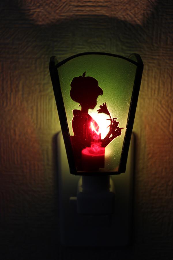 お休みライト、ステンドグラス浴衣の少女(送料無料)のサムネイル