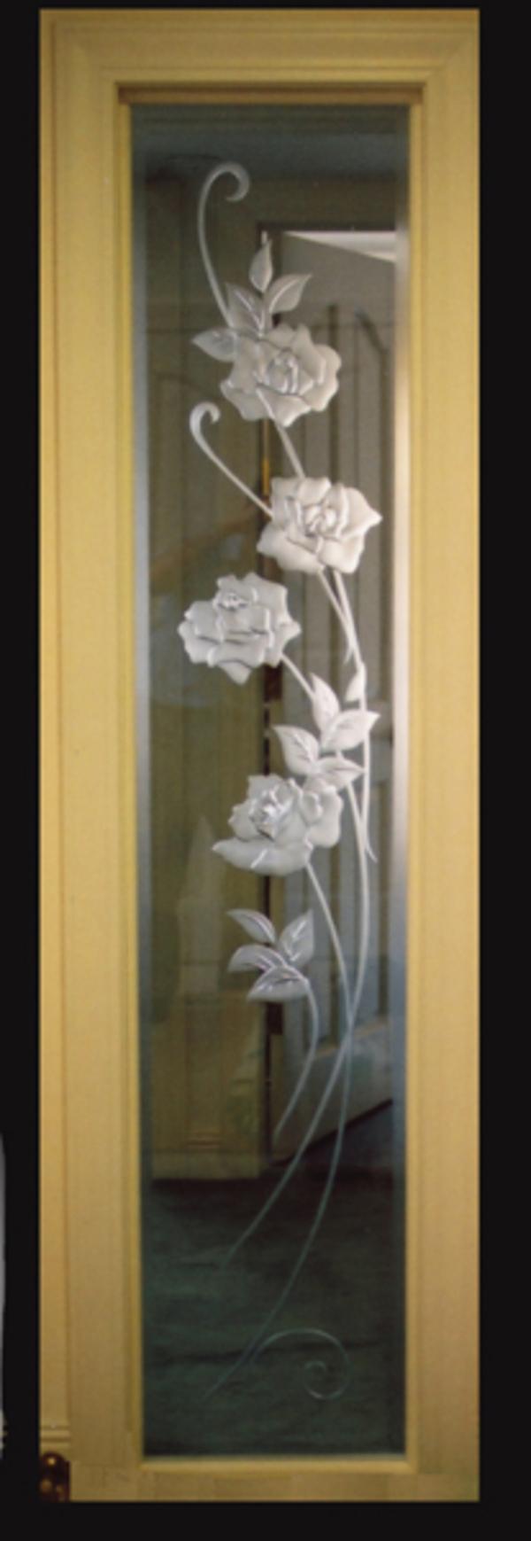 サンドブラスト オーダーメイド 新築 リフォーム 豪華な薔薇のサムネイル