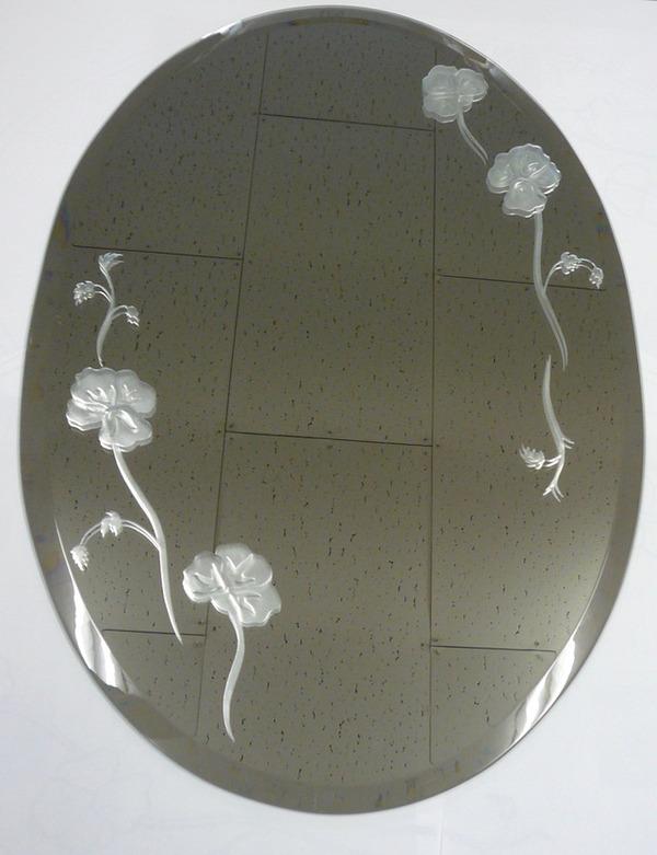 鏡のサンドブラスト オーダーメイド 新築