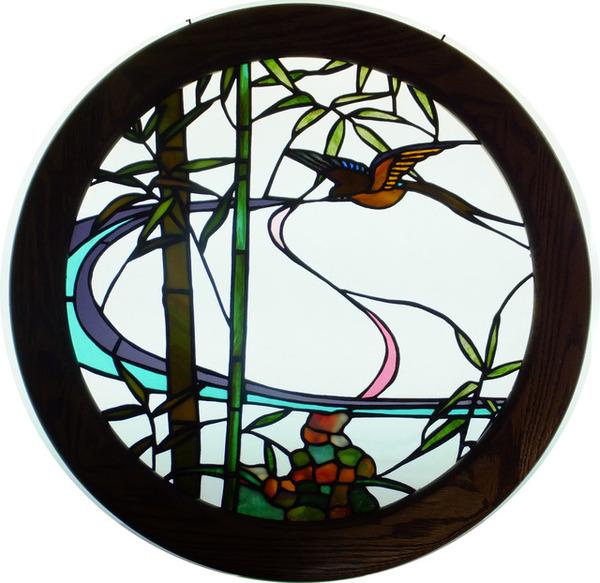和風のステンドグラス パネル オーダーメイド 新築 リフォームのサムネイル