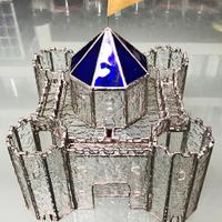 素敵なお城のステンドグラス