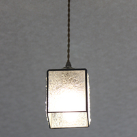 【照明】ステンドグラス、ペンダントライト4面体クリアーのサムネイル