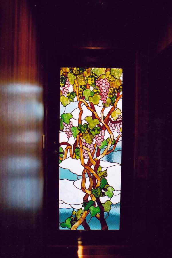 ステンドグラス 注文 オーダーメイド 新築 葡萄のドアのサムネイル