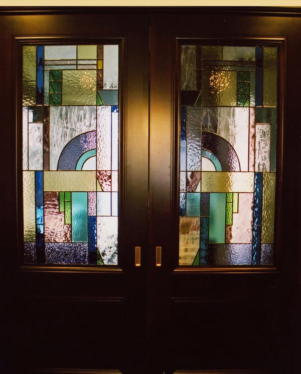 室内開きドア ステンドグラス オーダーメイド 新築 リフォームのサムネイル