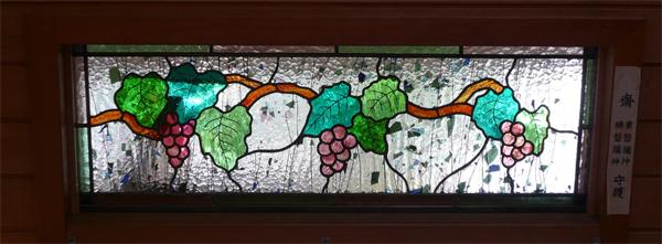 玄関灯り取り ステンドグラス オーダーメイド 新築 リフォームのサムネイル