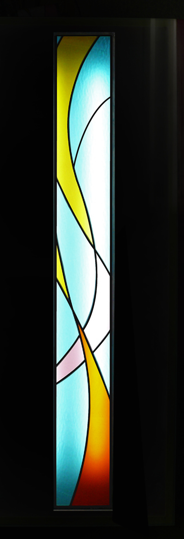 ステンドグラス オーダーメイド 玄関横のパネルのサムネイル