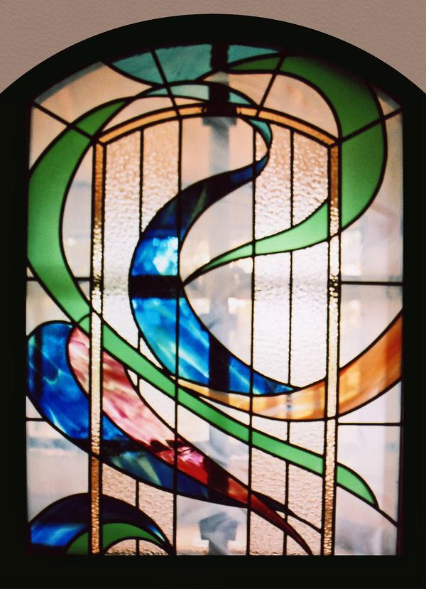 ステンドグラス オーダーメイド 新築 別荘のパネル