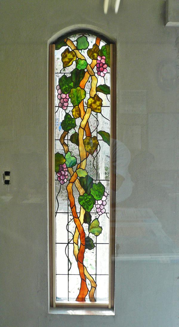 ステンドグラス オーダーメイド 玄関入口 葡萄