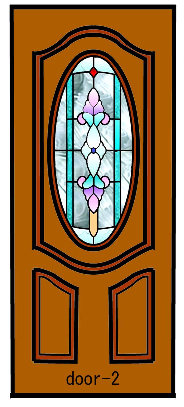 ドアのステンドグラスデザインー2