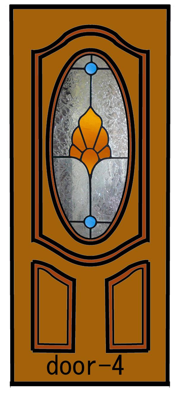 ドアのステンドグラスデザインー4