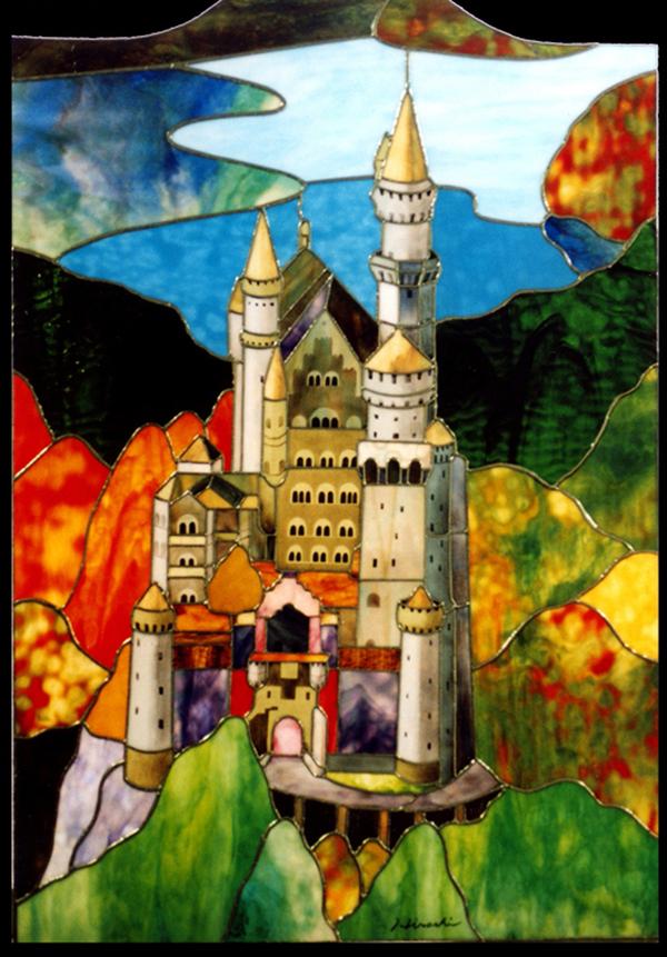 ステンドグラス オーダーメイド お城のサムネイル