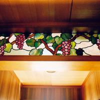 欄間、葡萄のステンドグラスー1のサムネイル
