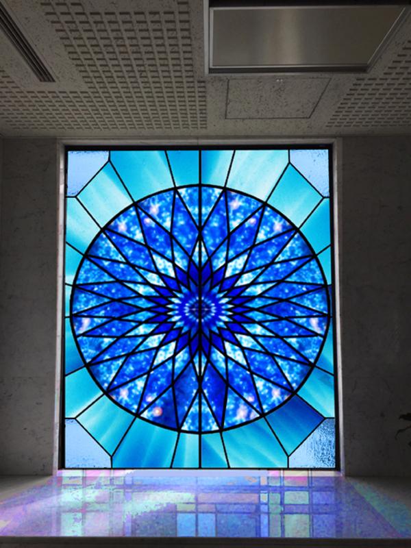 カレイドスコープ ステンドグラスパターン