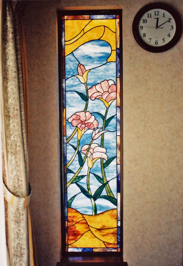 ステンドグラス オーダーメイド 江戸川区、ユリのサムネイル