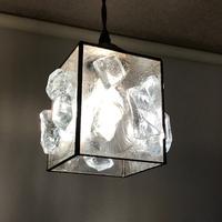 ステンドグラス 新築 ダルを使ったランプ