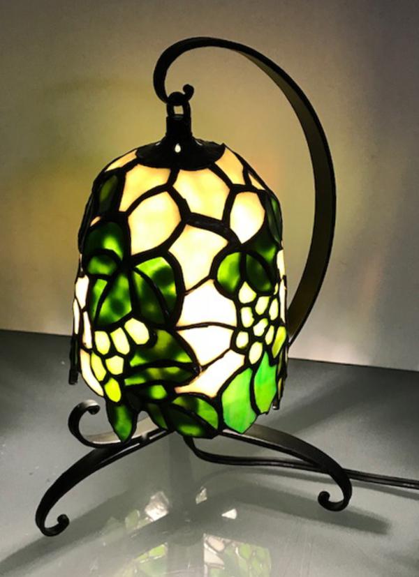 ステンドグラス 教室 葡萄のランプのサムネイル