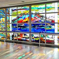 鹿児島空港のステンドグラス