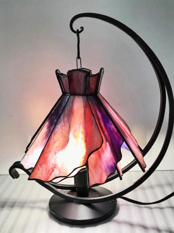 ステンドグラス 教室 春のランプ