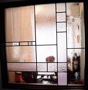 ステンドグラス オーダーメイド 注文 クリアーガラスのパネル