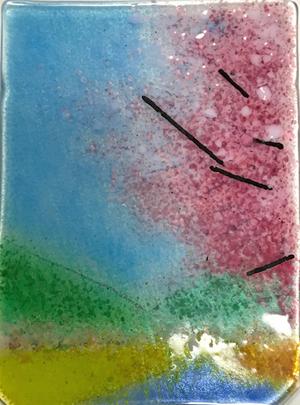 ステンドグラス オーダーメイド 桜のミニパネル