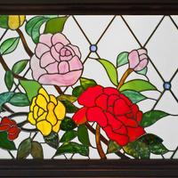 ステンドグラス オーダーメイド 薔薇