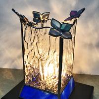 ステンドグラス ランプ 紫陽花