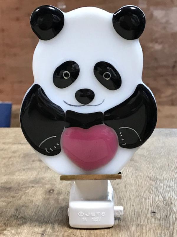 赤ちゃんパンダのステンドグラス