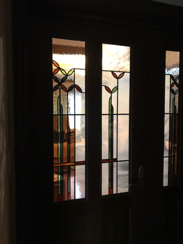 修復したステンドグラス
