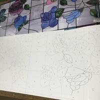 薔薇と蝶のステンドグラス、始動