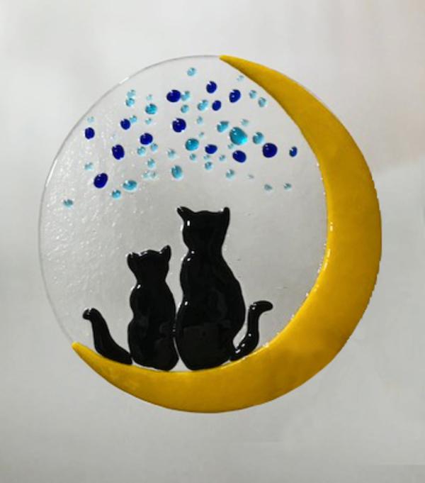 恋人猫たちのステンドグラス