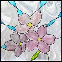 梅のステンドグラス